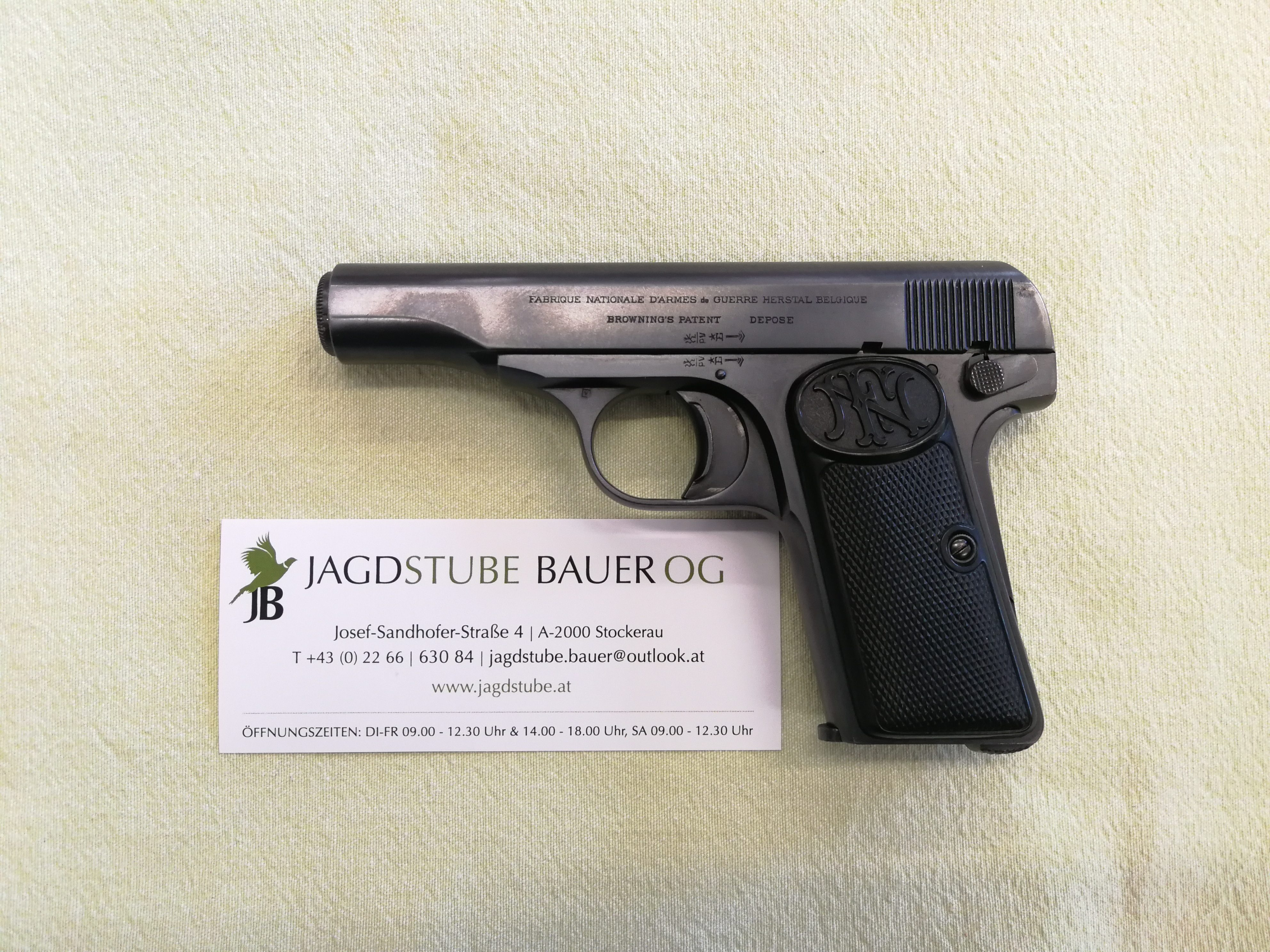 FN Browning Modell 1910, 7,65mm Browning (.32 ACP), Pistole